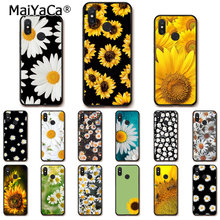 MaiYaCa Cute Summer Daisy Sunflower Floral Flower Phone Case for Xiaomi Mi6 Mi8 Note3 Redmi5 Note5 7 Note4 4X Redmi6 6A 5Plus(China)