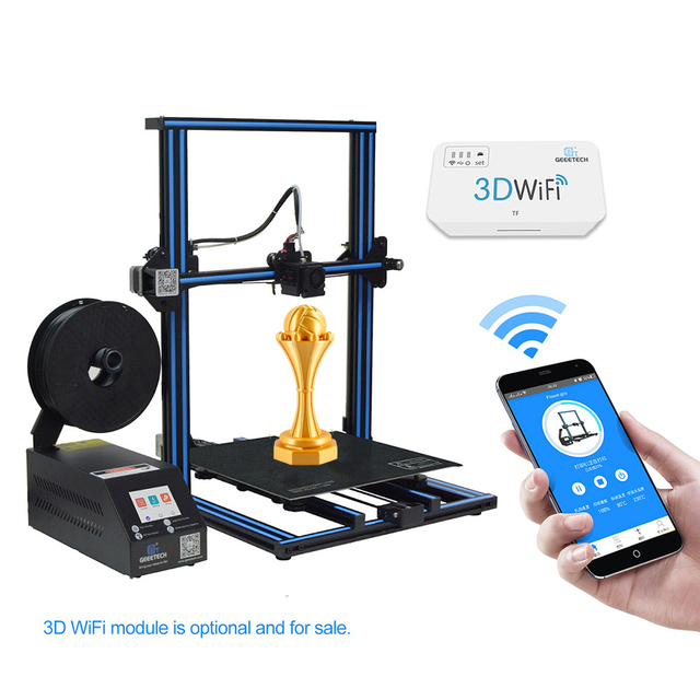 GEEETECH 3D Printer Open Source Printer DIY A30  With 320*320*420 Printer Area Colorful Touch Screen filament sensor with FDM CE