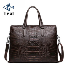 New fashion men bag men's briefcase luxury Designer Notebook business male bag Crocodile pattern bag vintage laptop high quality luxury crocodile pattern leather laptop bag men fashion casual business travel bag men tablet notebook bag 2016 new
