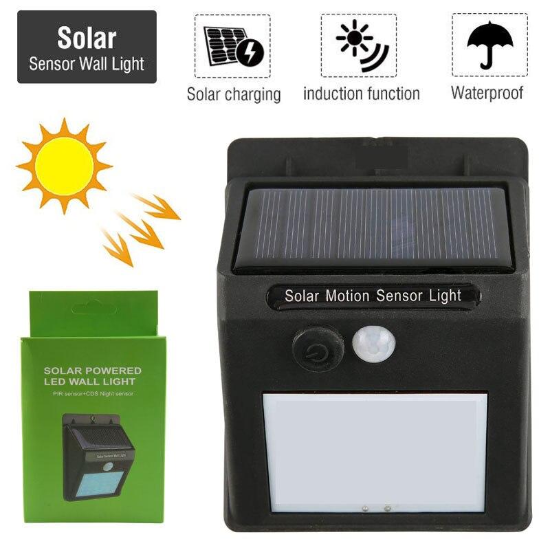 Wasserdicht 30 LED Solar Panel Power PIR Motion Sensor Wand Lampe Sicherheit Drahtlose Pfad Yard Garten Zaun Nacht Licht Im Freien