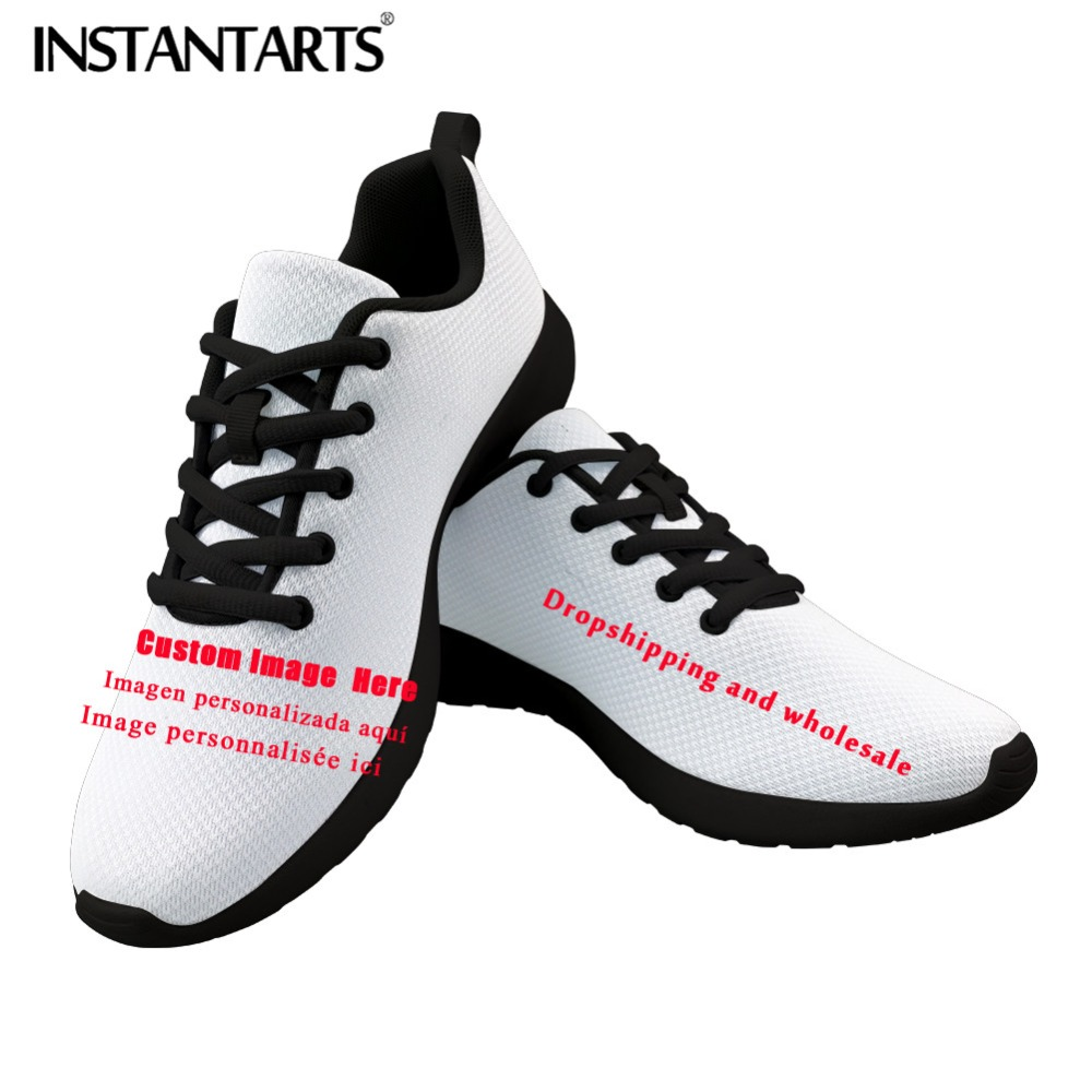 INSTANTARTS Spring Men Sneakers Custom Image Student Casual Shoes 2019 Breathable Man Walk Shoes 3D Print
