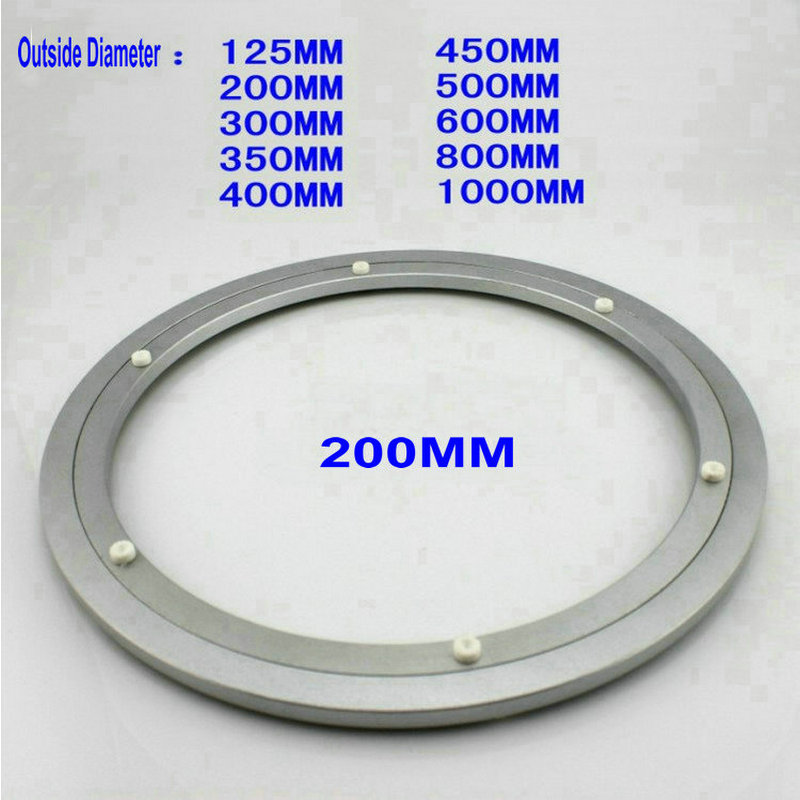 HQ HL 200MM (8 Inch) Quiet Solid Aluminium Lazy Susan Bearing Dining Table Swivel Plate