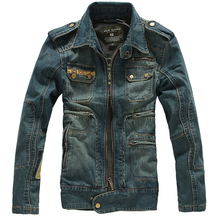Spring New Slim Jaqueta Jeans Masculina Trendy Vintage Blue Jean Jacket For Men