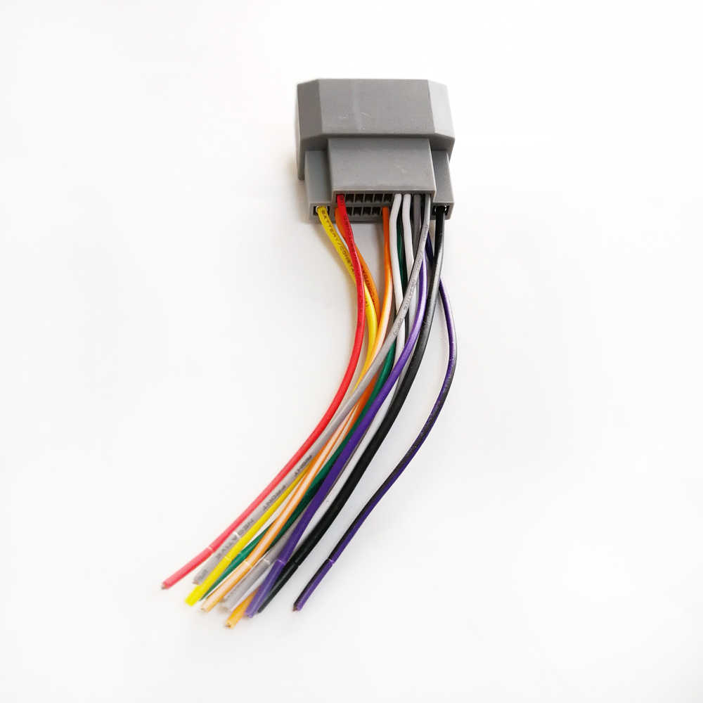 hight resolution of  biurlink car radio stereo wire harness cable adapter female port for jeep chrysler dodge
