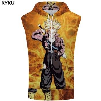 KYKU marca Dragon Ball con capucha Tank Top Goku sudadera azul músculo sin  mangas Stringer verano hombres ropa nueva divertido 3a5f40a13c5f6