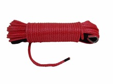 Red 6mm*30m ATV Synthetic Winch Rope,UTV Winch Line ,Off Road Rope,Replacement Winch Cable