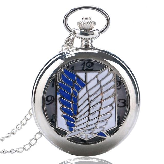 Attack on Titan Scouting Legion Survey Corps Cosplay Pocket Watche Vintage Reloj