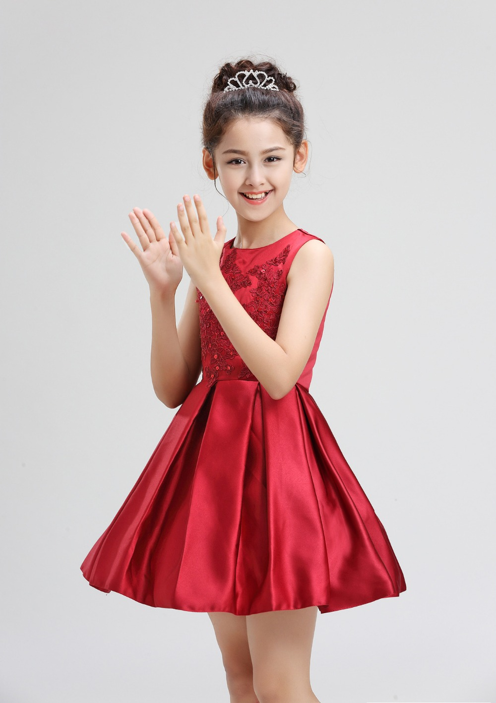 49793d037927e Luxury Red wine Princess Flower Girl Dress for Weddings Events Summer 2019  New Birthday Evening Prom Party Dresses Kids Clothes