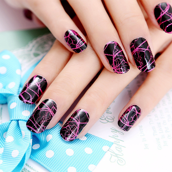 Colorful Summer Design Full Nail Art 12pcs Polish Strips Long Last Stickers Accept Custom Designs In Decals From Beauty