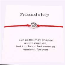 1pc Life Tree Charm Bracelets for Women Men Children Lucky Red String Friendship Wish Bracelets Jewelry Adjustable 7745-7748(China)