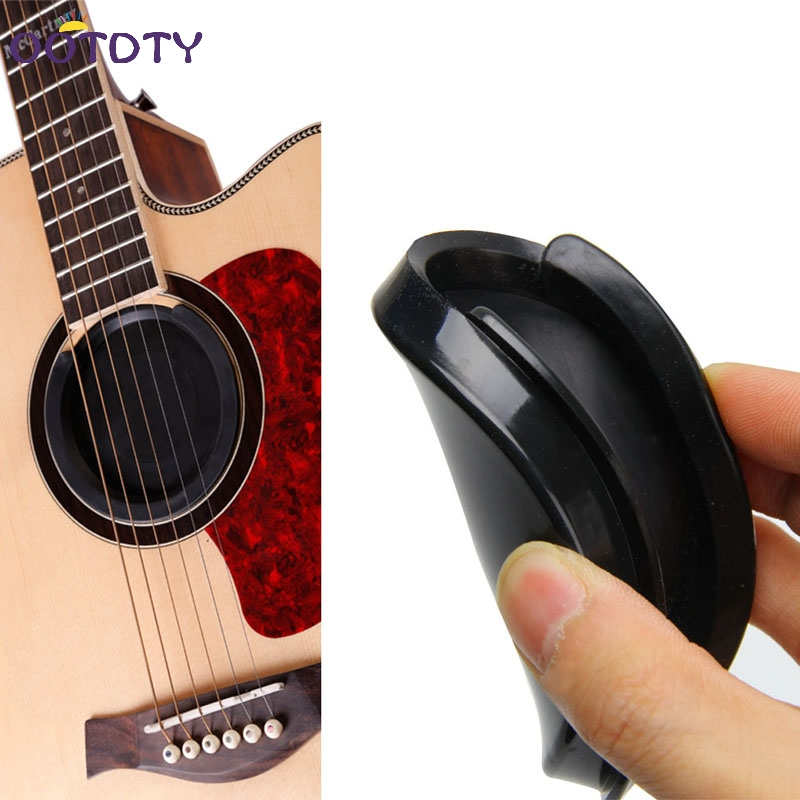 Screeching Halt Acoustic Guitar Sound Hole Cover Block Plug Rubber Black