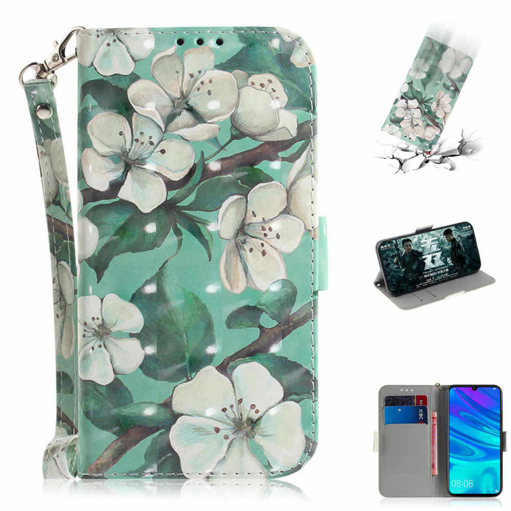 3D Vision Painted Book Case for Huawei P Smart Plus Nova 3i 3 Mate 20 Lite Pro Honor 8X 9i 9N 7S Y5 2018 Leather Wallet Cover