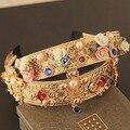Luxo de flor de moda festa ouro cruz pérola jóias DG Hairjewelry Accessaries sjipping F002