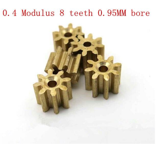 Ingyenes szállítás 0,4 Modulus réz fogaskerék 1mm lyuk 8 modell - Távirányítós játékok