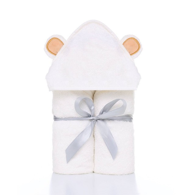 Soft Hooded Bath Towel For A Newborn Baby Newborn (0-3 months) Nursery Shop by Age Towels