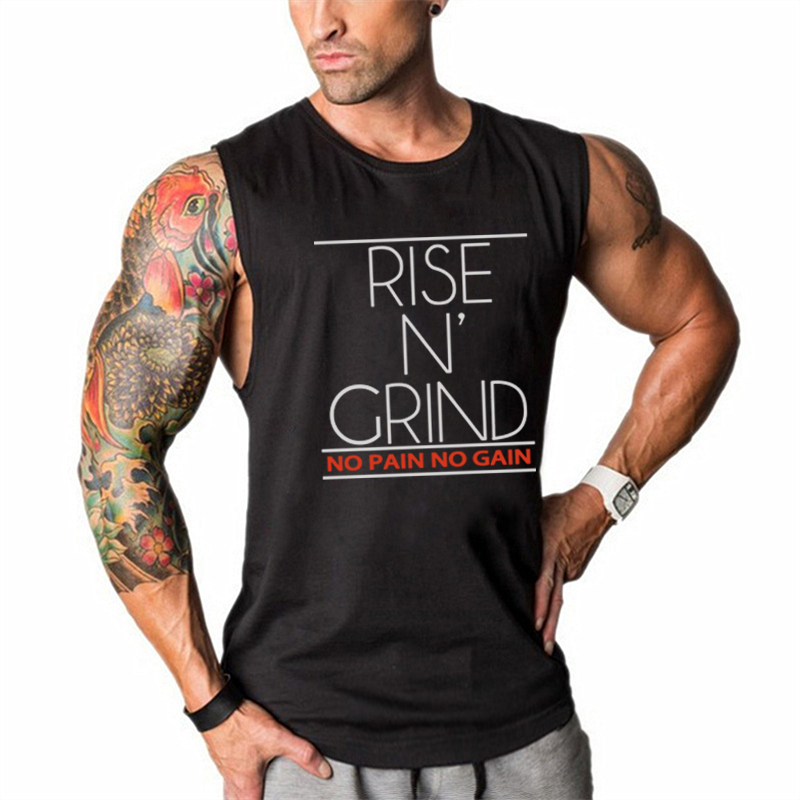Brand Summer Cotton Gym Tank Top Men Running Vest Muscle Sleeveless Sport T Shirt Fitness Clothing Bodybuilding Stringer Tanktop