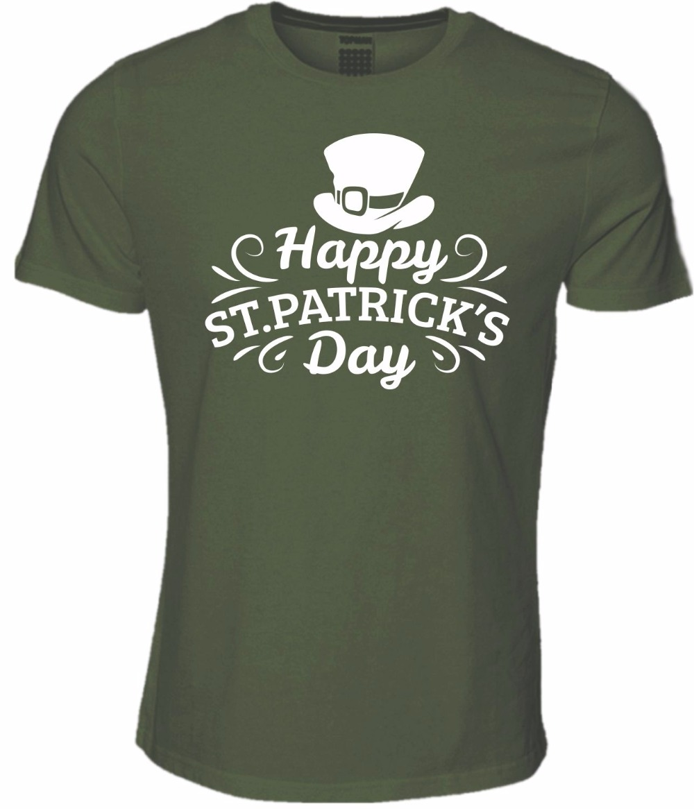 2b0e4c9a 2018 Summer Style Special Print Men Happy St Patrick's Day Tee Shirt  Ireland Paddy Green Top Dublin Patricks Party T Shirts-in T-Shirts from Men's  Clothing ...