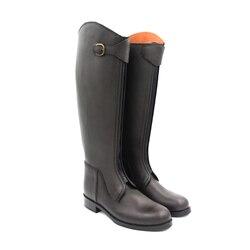 Aoud botas para montar a caballo cuero completo forro de cuero, botas de doma, botas ecuestres Unisex, equipo de equitación personalizado