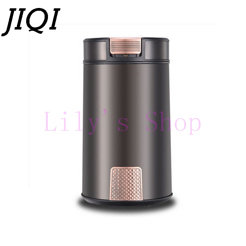 JIQI electric grinder coffee bean grinder Chinese medicine herbs nuts household mill grain Cafe Beans Spice grinding machine EU цена 2017