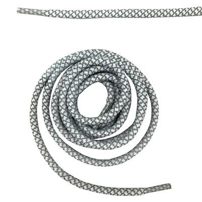 """Круглая веревка 3м Светоотражающие шнурки для ботинок бегуна видимые безопасные шнурки 14 цветов 4"""" /120 см - Цвет: white"""
