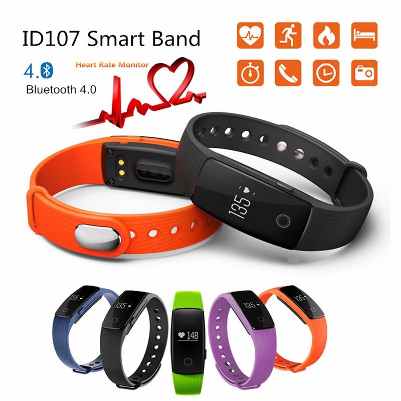 Smart Wristband ID 107 ID107 Watch Heart Rate Monitor Remote Bluetooth SMart Ban
