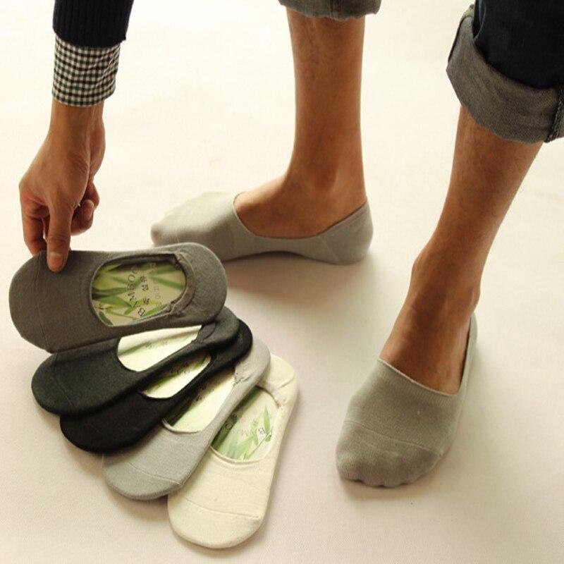 1Pair Non-Slip Slippers Casual Boat Socks Man High Quality Invisibles Short Socks Meias Homens Compression Short Socks Summer