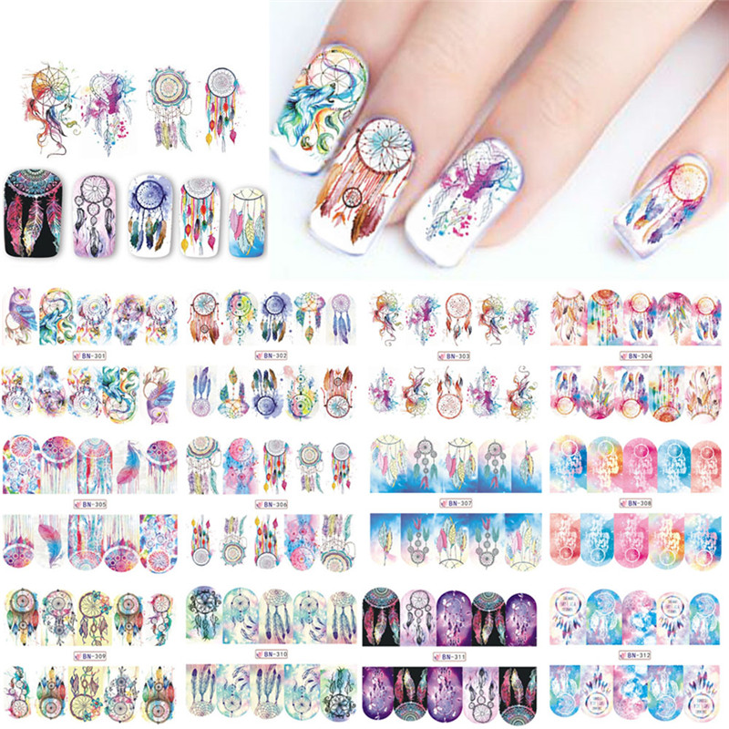 SWEET TREND 12 Designs Russia Traditional Watermark Nail