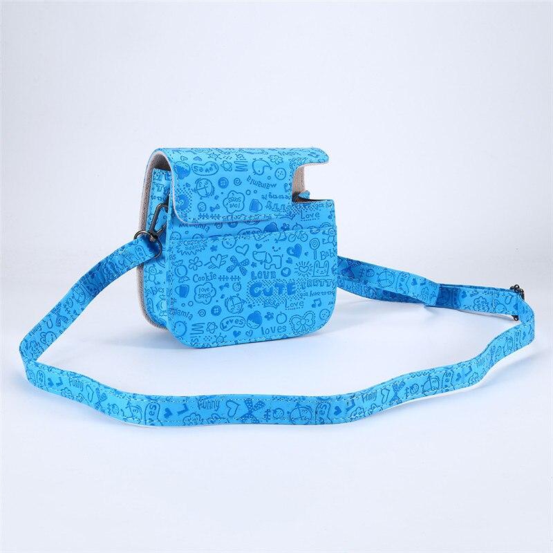 Portable Camera Bag Travel Pouch For Fuji Fujifilm Instax Mini8 PU Leather Camera Shoulder Strap Bag Case Newest