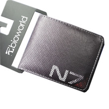 Hot game wallets MASS EFFECT N7 printing wallet game fans gift daily use wallets black color pu material P082