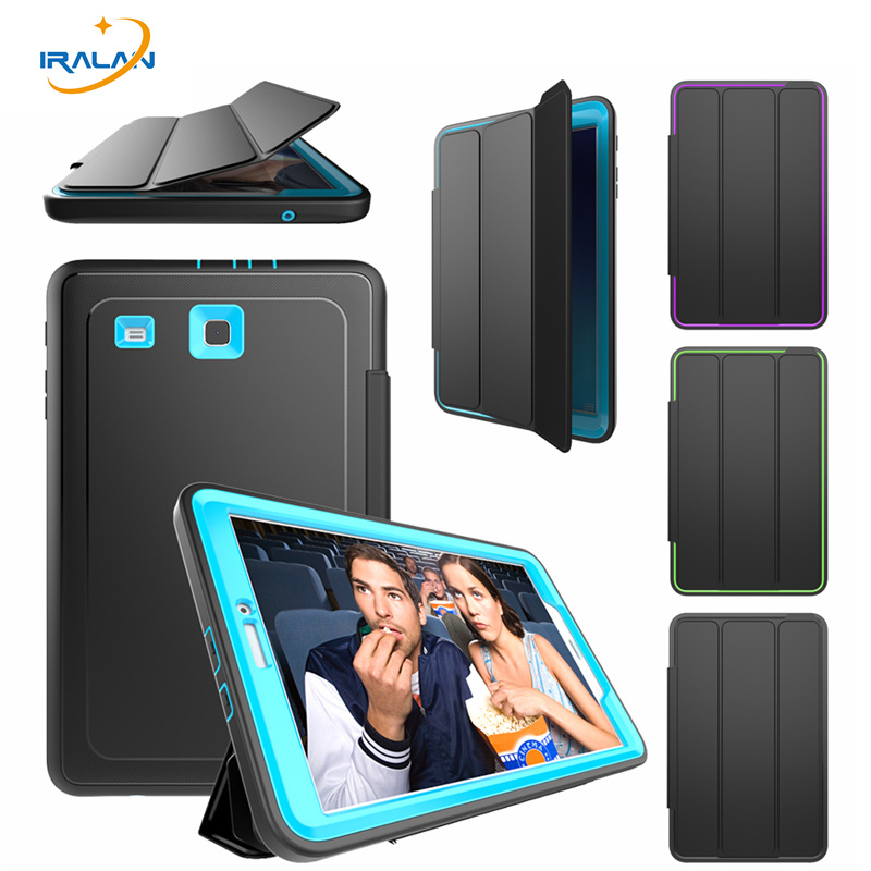 2018 new luxury Smart Case for samsung galaxy tab E 9.6 T560 T561 Tablet Kids Safe Armor Shockproof TPU+PC Hard Cover+film+pen new listing luxury tablet shockproof case cover for samsung galaxy tab a a6 7 0 t280 t285 child fashion back cases stylus
