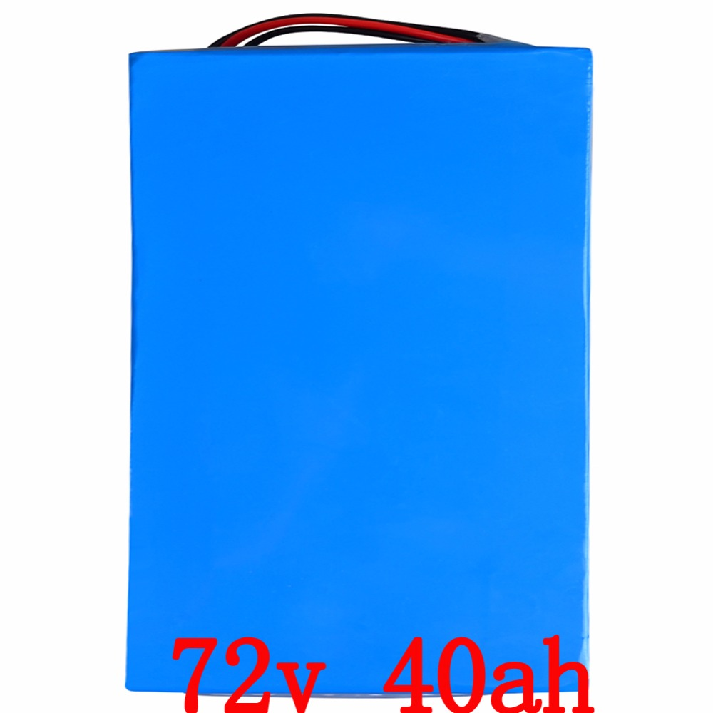 72V 40AH lithium battery super power electric bike battery 84V lithium ion battery pack + charger + BMS , Free customs duty free customs taxes customized 72v 40ah lithium battery pack for e bike electric scooters ev e bikes with charger and 50a bms