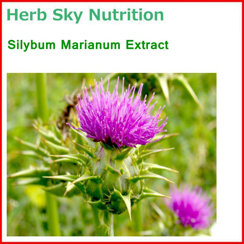 100% Natural& High quality Silybum Marianum/ Milk thistle Extract with free shipping, liver care 100% natural edible pigment spirulina extract phycocyanin 50% powder with free shipping cost for sale 50g