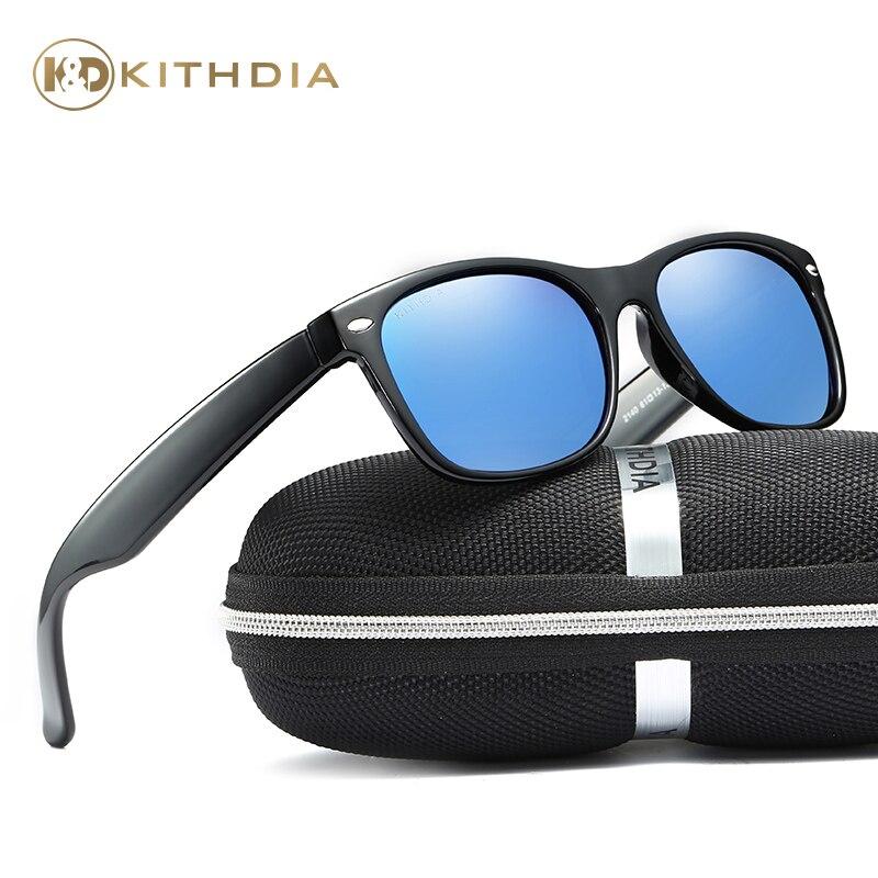 KITHDIA Hommes HD lunettes de Soleil Polarisées Hommes D'origine Marque Designer Classique Femmes Rétro Marque Designer lunettes de Soleil UV400 KD2140