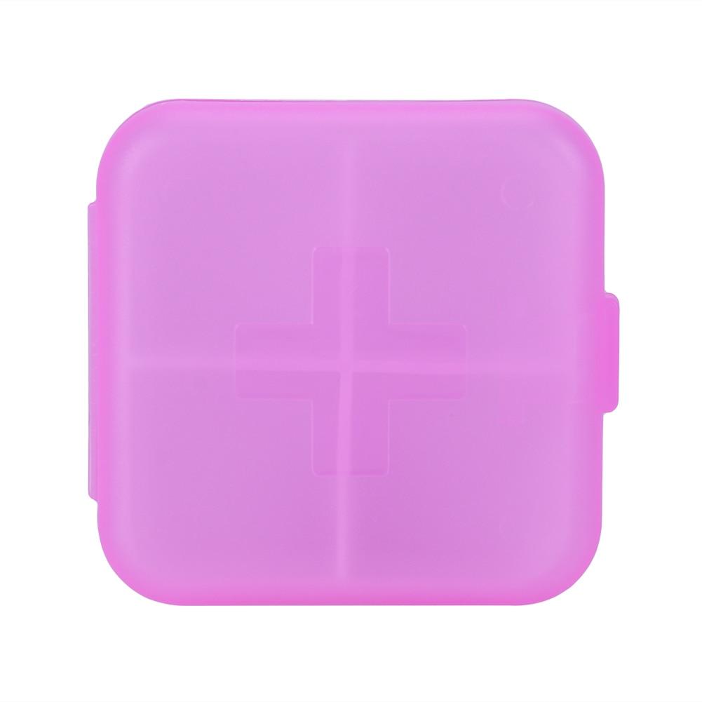 4 Slots Square Travel Pill Cases Outdoor Vitamin Cases Medicines Pill Box Portable Medicine Holder Pastillero 14