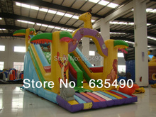 8x5m PVC tarpaulin inflatable font b bouncers b font with slide for kids and baby