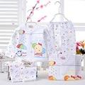 0 - 6 M roupas de bebê recém-nascido ajustado meninos meninas roupa interior macio Animal Print camisa e calças 100% roupas de algodão 2 Pcs