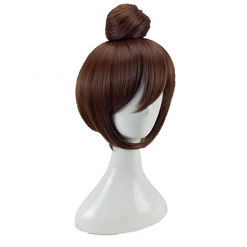 HAIRJOY  Synthetic Hair Tinker Bell Cosplay Wig with Detachable Bun Blonde Brown  Heat Resistant Costume Wigs 53