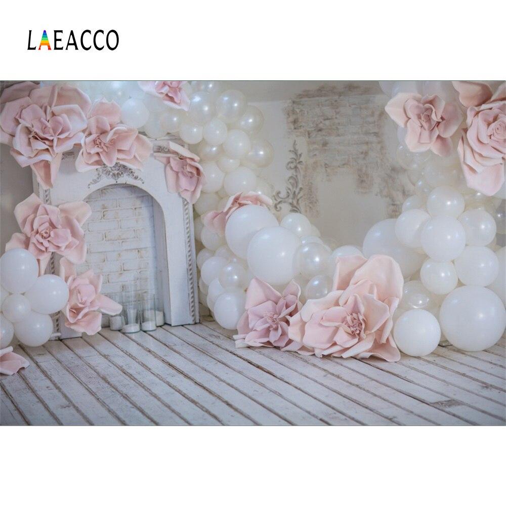 Laeacco Μπαλόνι Τζάκι Λουλούδι Ξύλινη - Κάμερα και φωτογραφία