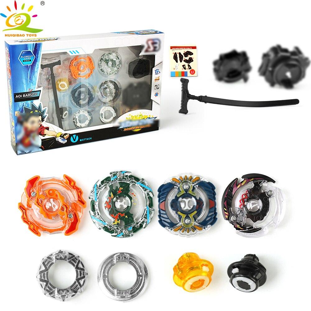 Toupie Kai Watch Land estadio de pelea con lanzadores de caja Original de 4D de fusión metálica Spinning Top juguetes para los niños Hobby