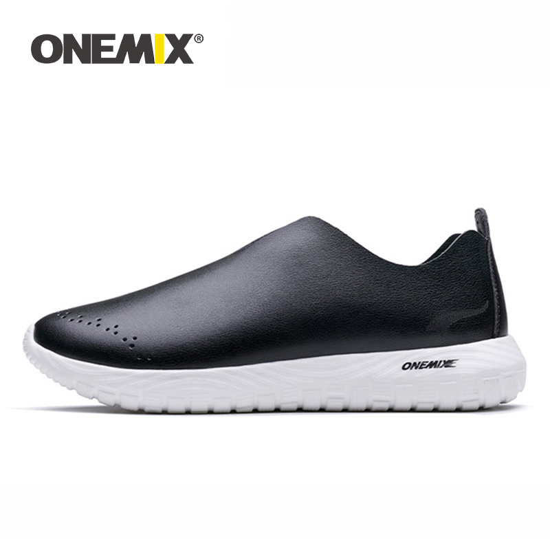 ONEMIX 2019 slip on shoes soft deodorant insole moisture absorption pig leather light shoes women sneakers