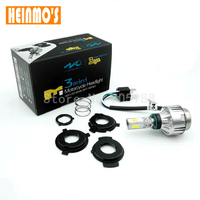 12 V 24 V Moto DC H4 LED Phares Dirt bike Motocross led projecteur 34 W 2000Lm HS1 BA20D H6 tête Lampe Ambre Blanc 6000 K