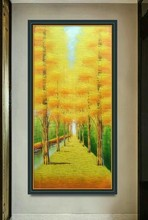 Handpainted Abstract Knife  Oil Painting On Canvas Handmade Money Tree Wall Cuadros Decoraction Unframed