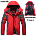 L~9XL Winter Jacket Men Brand Thicken Warm Parka Velvet/Fleece Hooded Windproof Waterproof Outerwear Coats Windbreaker Men CF014