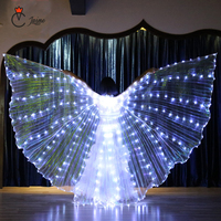 LED Performance Prop Belly Dance Accessory Light Up 360 Degree Wing Costume Butterfly Wings Starry Lights Twinkling