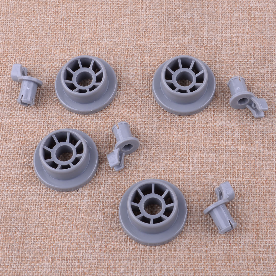 4Pcs Dishwasher Lower Rack Basket Dishrack Wheel Roller Axle Stud Kit Assembly Replacement Fit For Bosch Replacement 165314