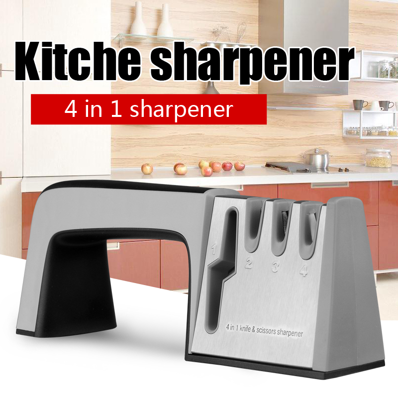 Spitzer Diamond kitchen Tools Edelstahl-Messerschärfer für Messerscheren Steinzeugmesser mit Schachtel
