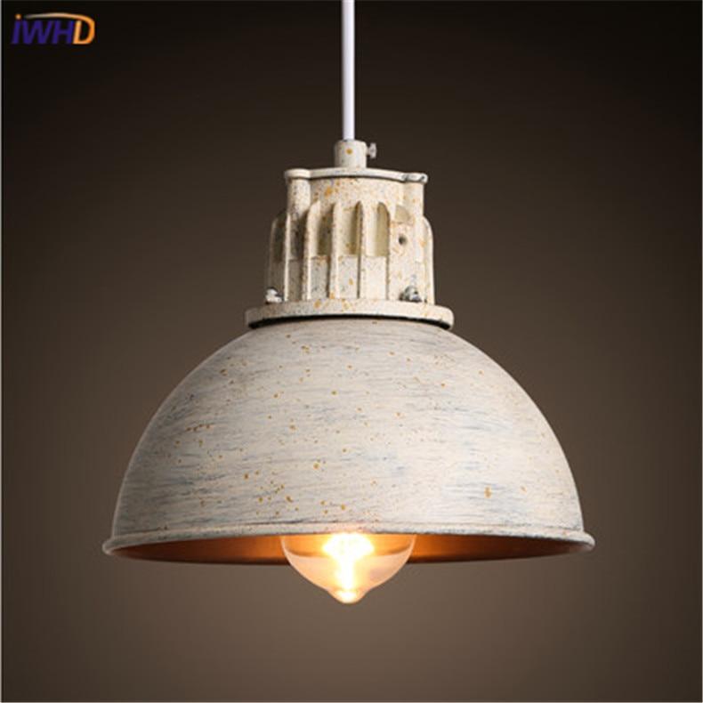 Country Style Víko Závěsná lampa Vintage Železné Přívěsek Lehké Průmyslové Loft Retro Droplight Bar Ložnice Restaurace Osvětlení domácnosti
