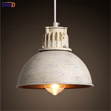 Country Style Lid Hanging Lamp Vintage Iron Pendant Light Industrial Loft Retro Droplight Bar Bedroom Restaurant Home Lighting