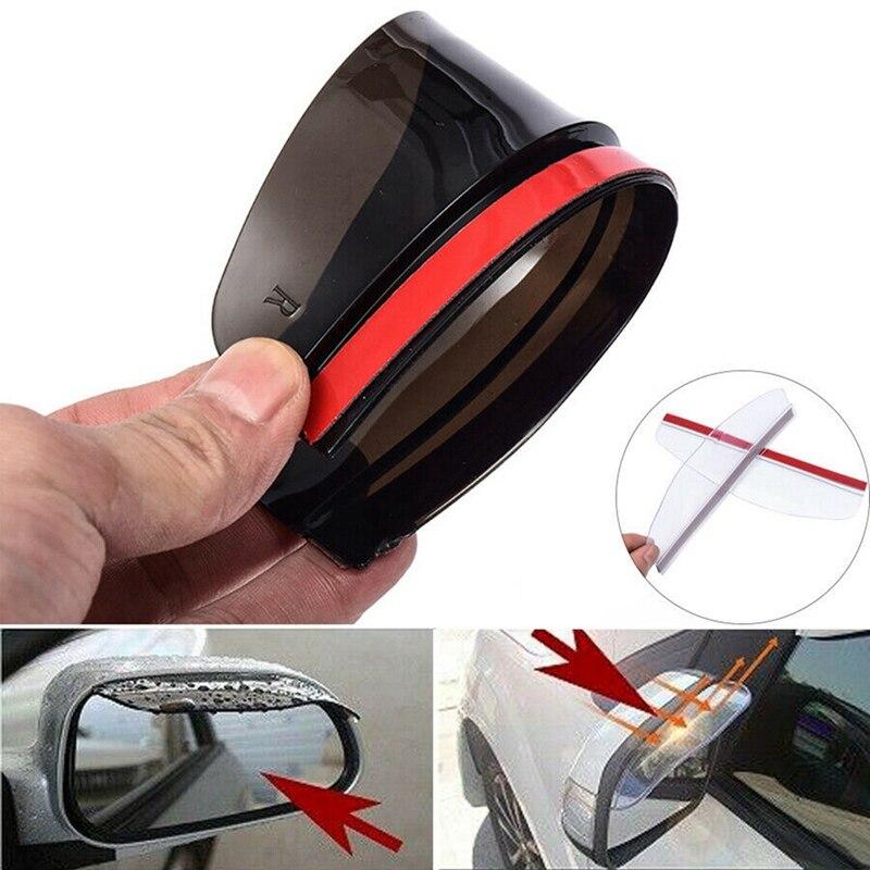 กระจกมองหลังรถยนต์กระจกมองข้าง Rain Visor Awnings & Shelters ด้านหลังดูกระจก Protector Motocicleta Accesorios ส่งสีสุ่ม