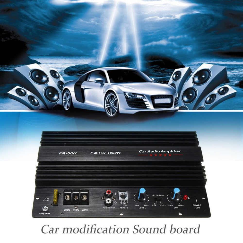 1000 W усилитель доска Моно аудио автомобиля Мощность усилитель Мощность ful бас сабвуферный усилитель для модификации автомобиля PA-80D 12 V